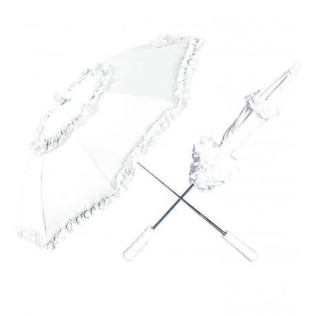Sombrilla paraguas en blanco