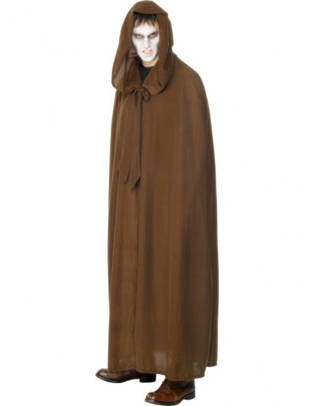 Capa con capucha en antelina - Unisex -