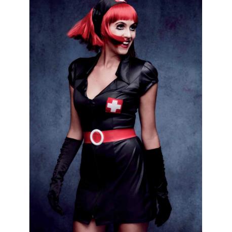 Disfraz de Enfermera Sexy en negro