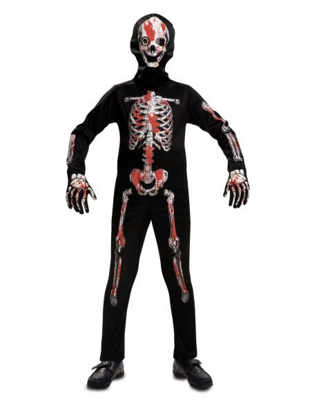 Disfraz de Esqueleto con sangre para niño