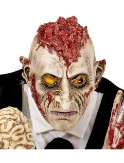 Mascara de Zombie con cerebro