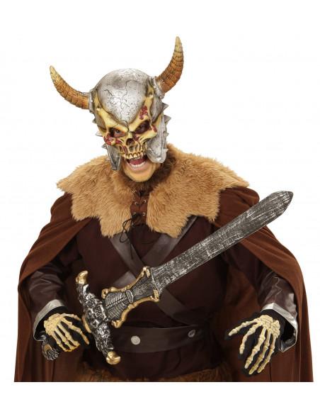 Mascara Vikingo Terrorífico con cuernos