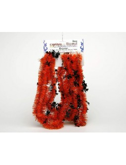 Espumillón decoración para Halloween en naranja