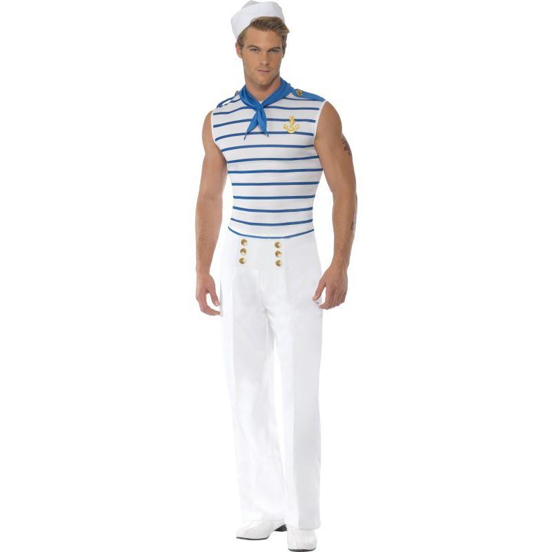 Disfraz de marinero frances para hombre comprar online - Disfraz de marinero casero ...