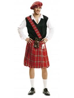 Disfraz de Escocés con bolso en la falda