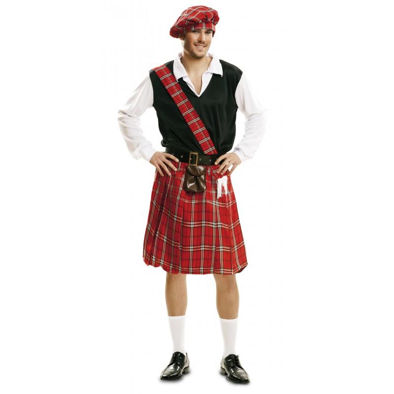 Disfraz De Escocés Con Bolso En La Falda Envio 24 H
