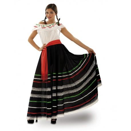 Disfraz de Mexicana con falda larga