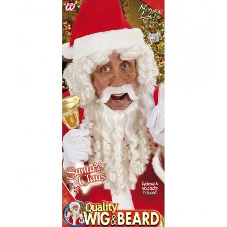 Peluca con Barba de rizos Lujo