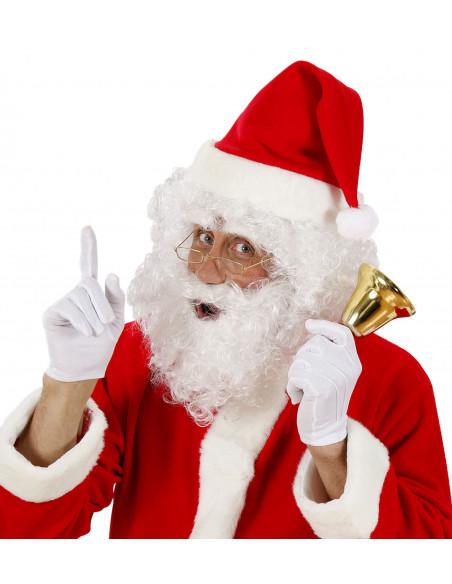 Peluca con barba y cejas Papa Noel