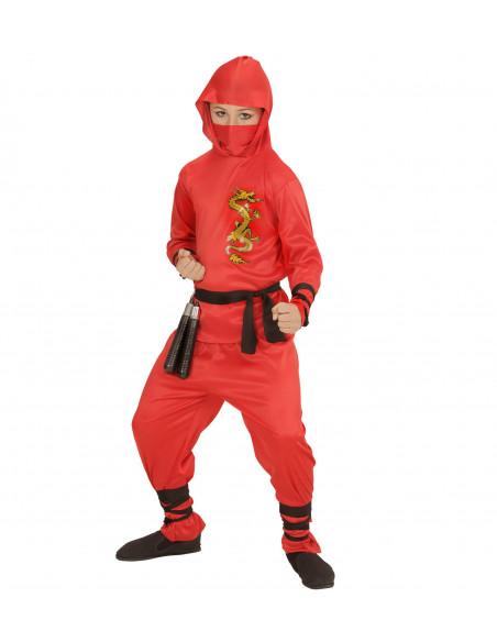 Disfraz de Dragon Ninja Rojo para niños