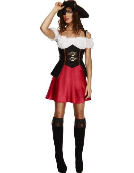 Disfraz de Mujer Pirata con sombrero