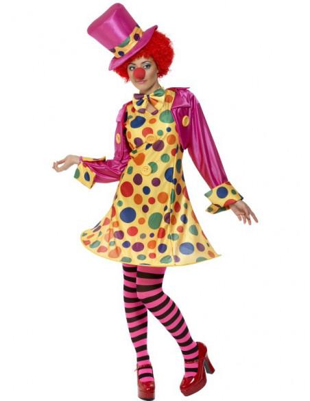 Disfraz de Payasa con aro, gorra, pajarita y medias