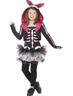 Disfraz de Esqueleto conejito para niña