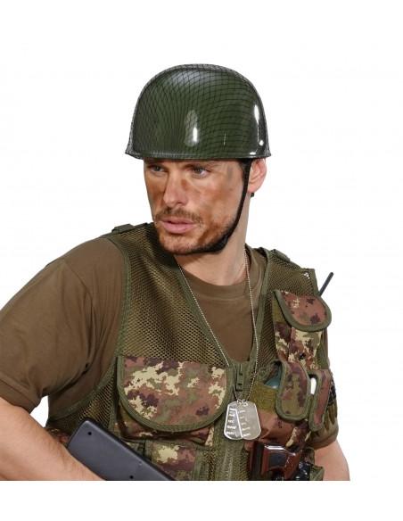Cadena con Placas Militares
