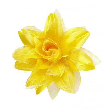 Flor de Tela Amarilla