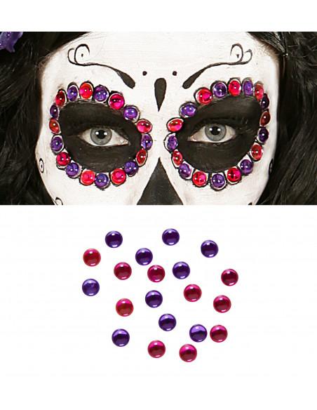 Gemas para maquillaje Rosa y Violeta