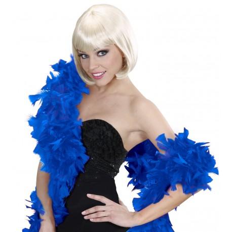 Boa de plumas en azulón
