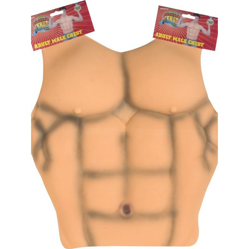 Pecho y abdominales músculos - Tienda de disfraces