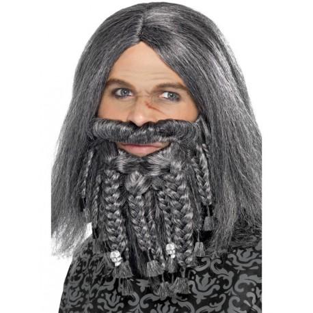 Peluca con barba gris