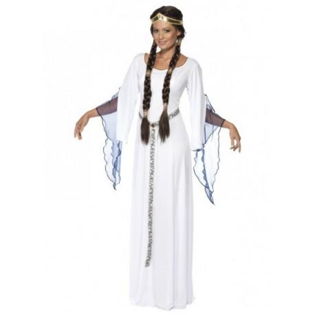 Disfraz de Doncella Medieval Blanco