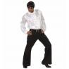 Camisa de raso Blanca con Volantes