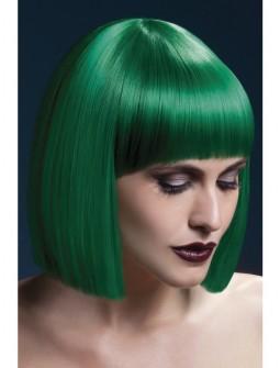 Peluca media melena en verde - Premium -
