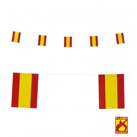 Guirnalda con Banderines de España