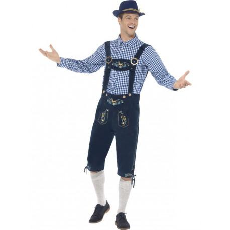 Disfraz de Bavarian azul Oktoberfest Premium