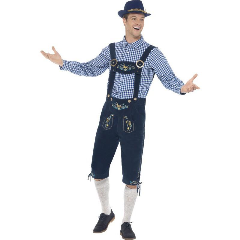 Disfraz de Tirolés Premium en Azul para Hombre  c874c4133616