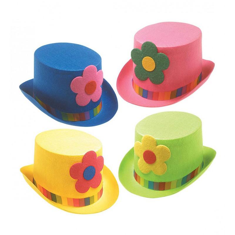 Sombrero de Copa con Flor Payaso  840af066535