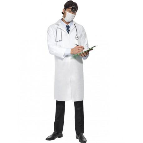 Bata y mascarilla para medicos