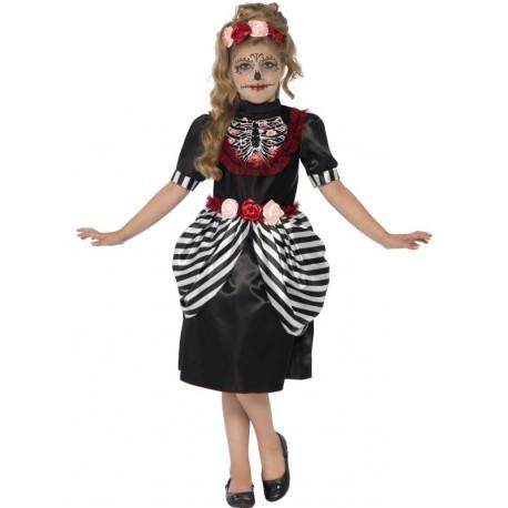 Disfraz del dia de los muertos para niña