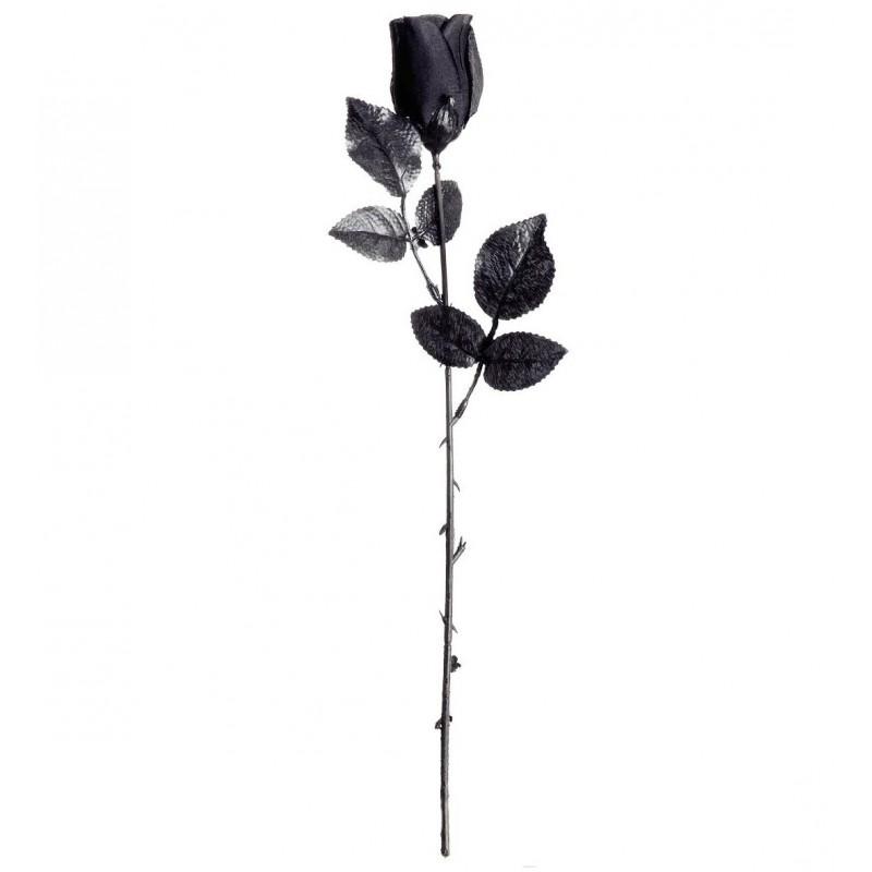 45a97accaa28 Rosa Negra de tela con tallo