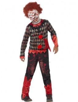 Disfraz de Payaso Zombie con careta