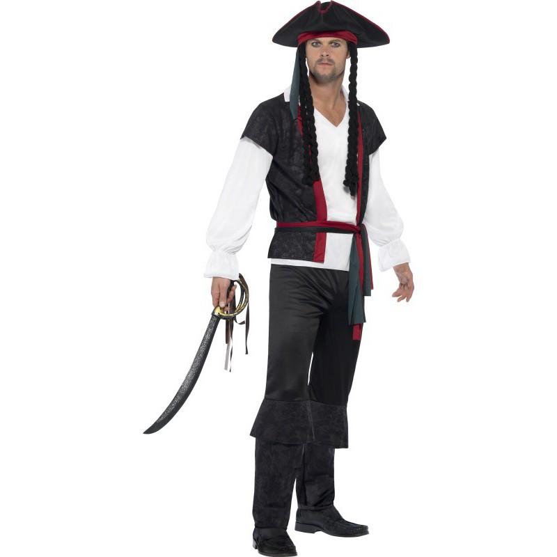 Disfraz de pirata con sombrero y rastas para hombre comprar - Pirata colorazione pirata stampabili ...