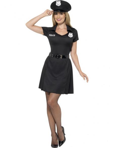 Disfraz de Policia con Gorra para mujer