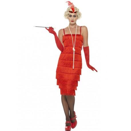 Disfraz de Charleston Largo en Rojo