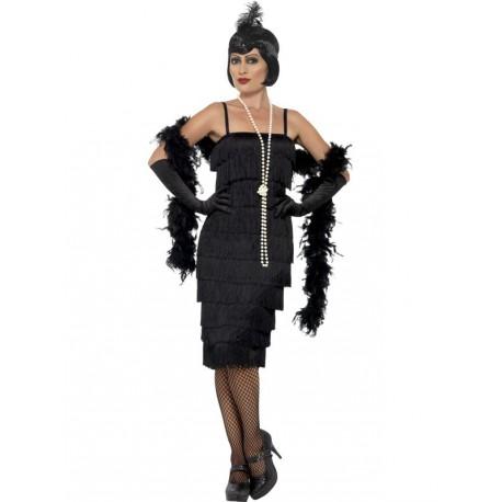 Disfraz de Charleston Largo en Negro