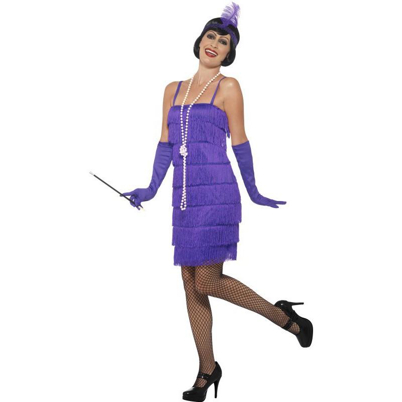 Disfraz de Charleston Corto en color Morado para mujer | Comprar