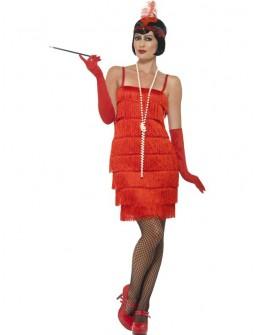 Disfraz de Charleston Corto en Rojo
