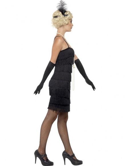 Disfraz de Charleston Corto en Negro