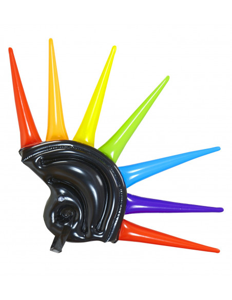 Casco Hinchable con cresta de colores