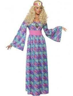 Disfraz de Hippie Estampado para Mujer