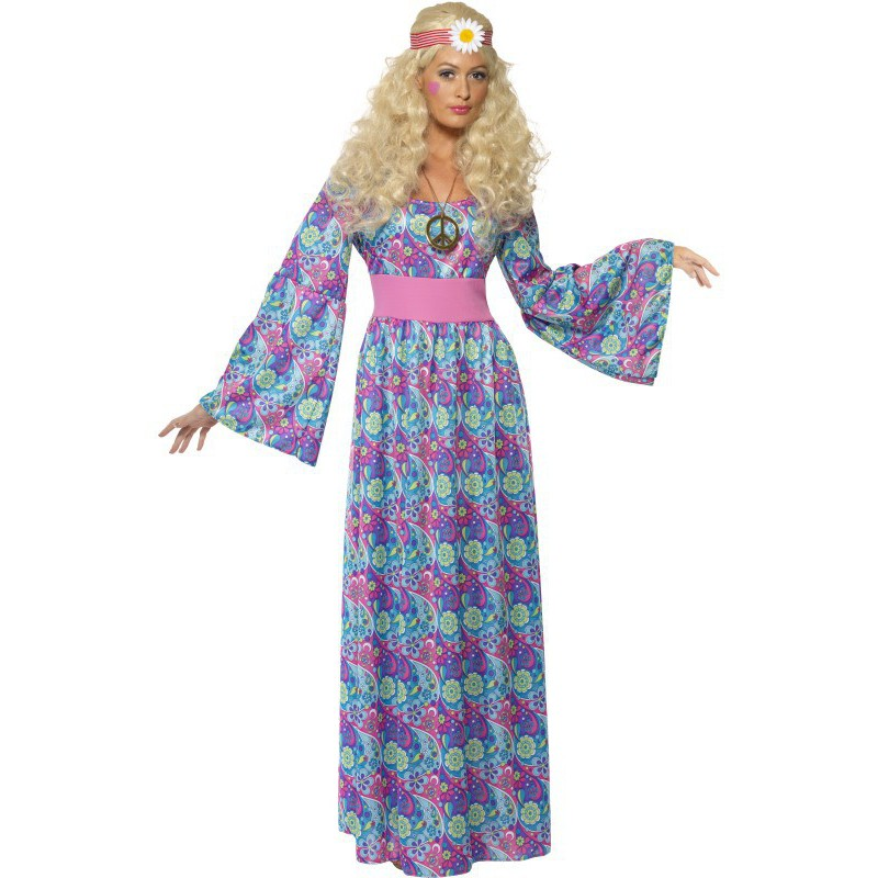 ed97326ed Disfraz de Hippie Estampado para Mujer Largo | Comprar Online