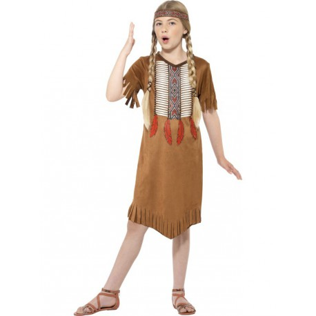 Disfraz de India barata para niña