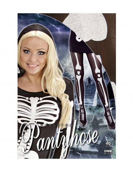 Pantys de esqueleto con huesos