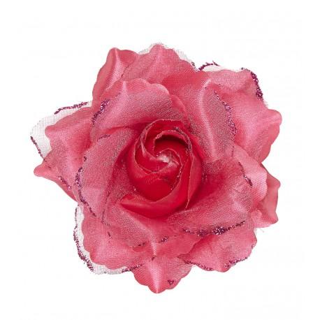 Flor de Tela Rosa Fucsia