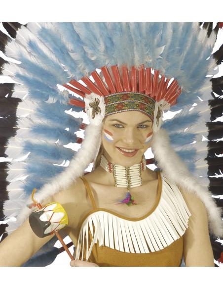 Collar Indio con plumas