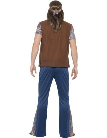 Disfraz de Hippie con colgante para hombre
