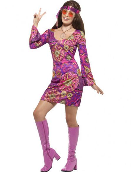 Disfraz de Hippie con colgante para mujer